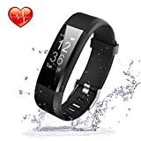 Activity Tracker Movaty ID115 Plus Smart Bracciale,Waterproof IP67 Fitness Sport watch,Cardiofrequenzimetro,Pedometro,calorie counter,chiamate SMS promemoria,Bluetooth 4.0,iPhone Android Smartphone