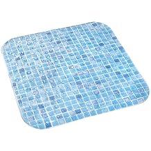 Dintex Mosaico - Alfombra antideslizante para ducha, 54 x 54 cm, color azul