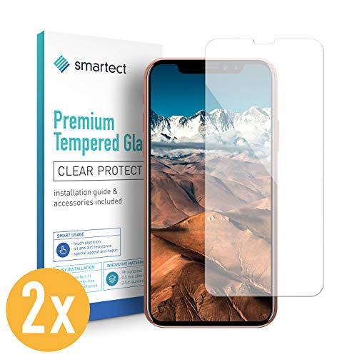 smartect Glass Screen Protector for iPhone X [2 Pack] - 9H Tempered Glass - Ultra-Thin Design - Bubble-Free Installation - Anti-Fingerprint