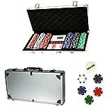 PROFESIONAL Póquer Set Maleta Poker - 300 fichas Póker Maleta Casino Dados Cartas