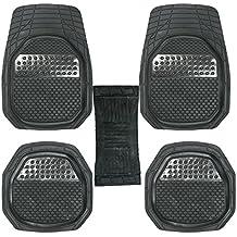 GTC Universal Carpet Car Floor/Foot Mats (Set of 5) (Black (934-5))