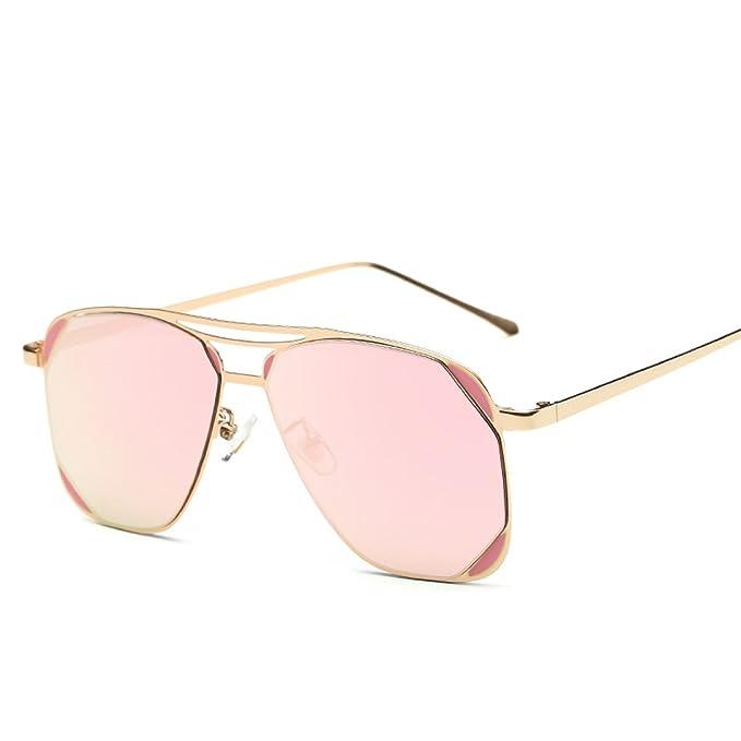 WKAIJC Männer Und Frauen Kasten Mode Individualität Komfort Freizeit Metall Farbe Bunt Sonnenbrillen Sonnenbrillen,A