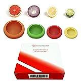 ✮ CuisineDuChef ✮ Couvercles souples en silicone | Lot de 4 | Protections réutilisables | Conservateurs de nourriture | Conçus pour fruits et légumes, bocaux, conserves