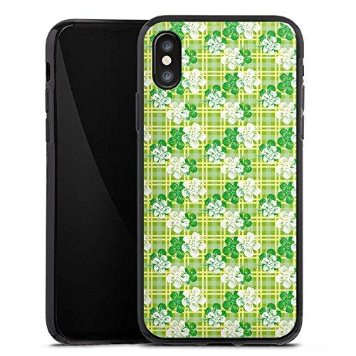 Apple iPhone X Silikon Hülle Case Schutzhülle Blumen Muster Sommer Silikon Case schwarz