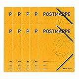 Einschlagmappe A4 mit Gummizug Postmappe gelb 25 Stück