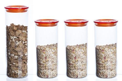 bohemia-cristal-storage-container-glass-4-piece-set-orange