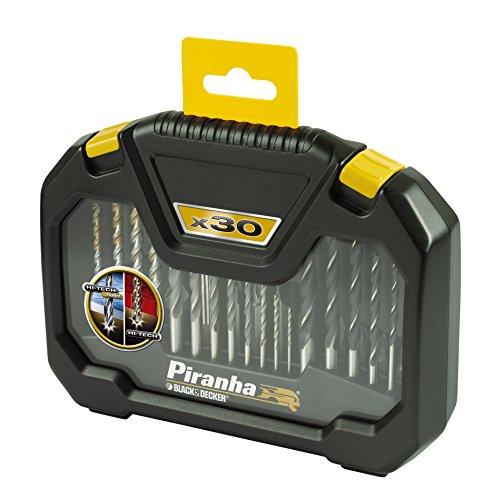 Piranha - Set di 30 punte da trapano professionali hi-tech