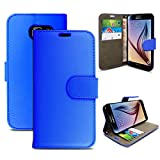 Gr8 value Luxury PU Leather Wallet Cover Flip book Phone Mobile case for Samsung I9190 Galaxy S4 mini (plain blue book)