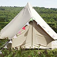 tenty.co.uk Boutique Camping 4m Sandstone Bell Tent With Zipped In Ground Sheet
