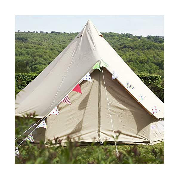 Boutique Camping 4m Sandstone Bell Tent With Zipped In Ground Sheet 1