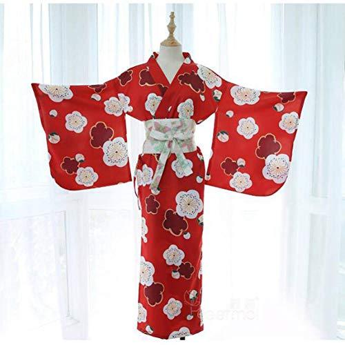ASDF Sexy Unterwäsche Uniform Versuchung japanische Kirschblüte Mädchen tief V Lange Feder gestrickt Kimono Anzug (Anzug Schlafanzug Vollen)