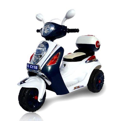 Preisvergleich Produktbild Kinder Elektroroller C118 für Ihre Kids Elektro Kinderroller Kinderfahrzeug (dunkelblau)