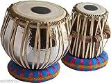 Sai Musical Sheesham Wood TB-0107 Hand Made Chrome Plated Copper Tabla Set Silver Color - A Musical Instrument.