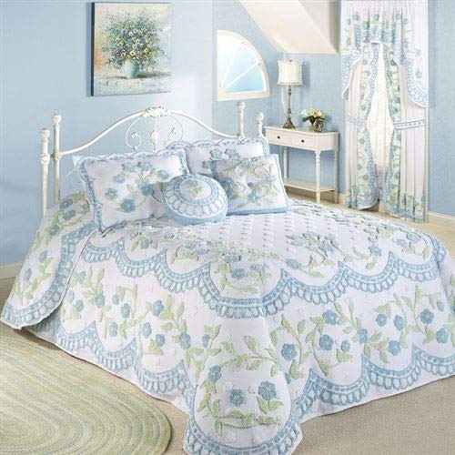 Touch of Class Cottage Bloom Grande Tagesdecke, Blau Bedspread Gr Queen blau (Queen-size-cottage Bed)