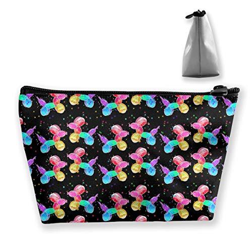 Aquarell Ballon Dogs2 Tixing Trapez Reise Make-Up Tasche Kosmetiktaschen 7x12x22CM