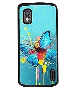 PrintVisa Designer Back Case Cover for LG Nexus 4 :: LG Google Nexus 4 :: Google Nexus 4 (Beautiful Modern Art Colours Colorful Concept Insect)