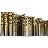 Astmake–Juego de 50 brocas HSS con revestimiento de titanio de acero de alta calidad, para carpintería