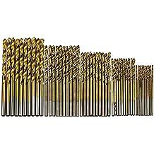 50pcs/set carpintería broca Set con revestimiento de titanio HSS con revestimiento de titanio de acero de alta