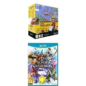 Pack Wii U 32 Go noire + Super Mario Maker + Super Smash Bros.