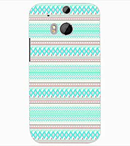 ColourCraft Tribal Pattern Design Back Case Cover for HTC ONE M8