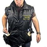 Veste de dressage DT avec longues manches amovibles, noire/jaune. large, (Taille: 107 cm)