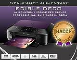 LDC Imprimante Alimentaire Éco multifonction format A4avec encre alimentaire –pour impression alimentaires avec 5cartouches et 100dosettes incluses