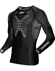 X-bionic Camiseta m/l running twyce hombre negro/blanco