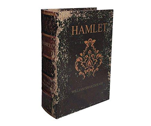zeitzone Hohles Buch Geheimfach SHAKESPEARES HAMLET Buchsafe Antik-Stil 23cm