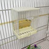 Alimentador de alimento de pájaro, Caja de Alimentos automática Parrot Manger, Suministros para Mascotas Cepillo de Masaje para Esquina de Gato con Juguete para Gatos