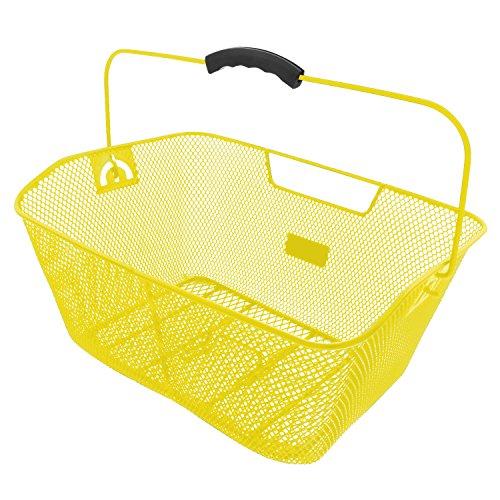 M-Wave BA-RM Hochwertiger Drahtkorb, Verschiedene Farben, Gelb, 41x31x16 cm