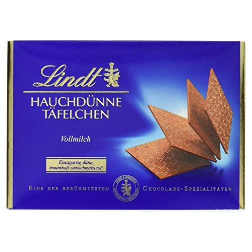 Lindt & Sprüngli Hauchdünne Täfelchen, Vollmilch, 125 g