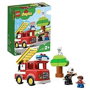 LEGO DUPLOTown Autopompa, Luce e Suono,Figura del Pompiere,Giocattoli per Bambini dai 2 ai 5 Anni, 10901 5702016367652 LEGO