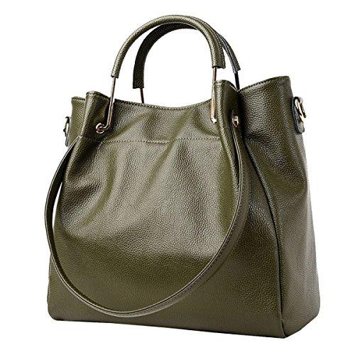 Yy.f Nuove Borse Genuine Nuove Borse Elegante Pratico Interno Multi-colore Esterno Green