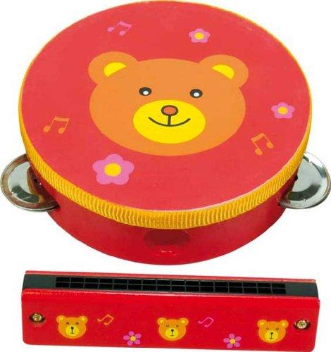 Bär - Mundharmonika & Tamburin für Kinder