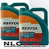 Aceite motor REPSOL Élite Long Life 50700/50400 5W-30 10 LITROS (2x5 lts)