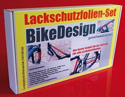 Lackschutzfolien Set transparent für Fahrrad Bike, 23 Teile Lackschutz Steinschlagschutz Rahmenschutz