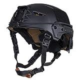 LAPD Tactical Helm matt schwarz SEK Polizei Fast FMA TB1044 Airsoft Special Black OPS KSK Navy Seals Einsatz US Army #18735