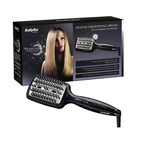 straightening brush - 51y NacNuzL - BaByliss Diamond Heated Smoothing and Straightening Brush