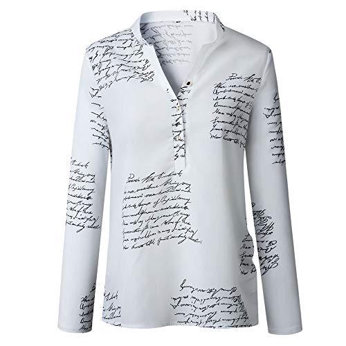 Dhyune Frauen Button Down Shirt Plus Size Brief gedruckt Langarm Revers Casual Bluse Tops Shirt - Paisley Print Western Shirt