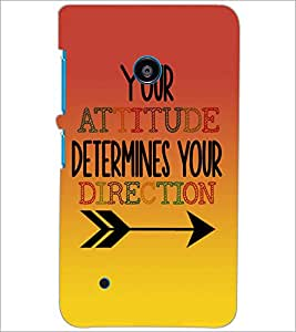 PrintDhaba Quote D-2873 Back Case Cover for NOKIA LUMIA 530 (Multi-Coloured)