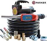 12V Kit de bomba de transferencia de combustible portátil 12V - con medidor de flujo digital