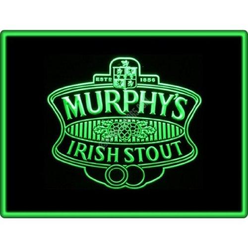 Murphys Irish Stout Bier LED Zeichen Werbung Neonschild Grün (Led Schilder, Bier)