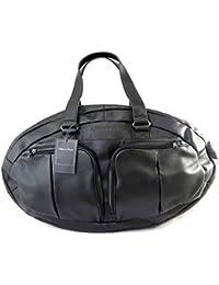 Eden Park [M5804] - Sac cuir 'Eden Park' noir (ballon de rugby)