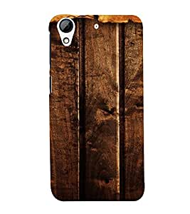 PrintVisa Dark Wooden Pattern 3D Hard Polycarbonate Designer Back Case Cover for HTC Desire 626