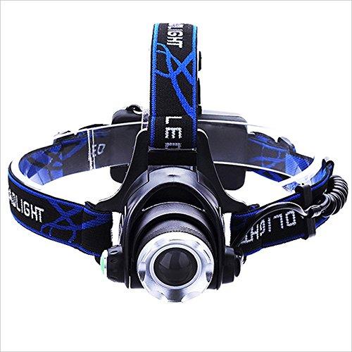 MUTANG Outdoor LED Wasserdichte Scheinwerfer Kopf-montiert Taschenlampe Licht einstellbar USB Smart Fast Charge Scheinwerfer Miner's Lampe weißes Licht, gelbes Licht, blaues Licht -