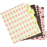 Wilson Jones Recycled Bliss Dividers, 5-Tab, Assorted Designs (W31504)