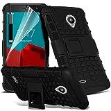 Vodafone Smart prime 6 Funda anti golpes - cubierta robusta resistente de alta calidad reforzada a prueba de golpes resistente a los impactos Executive con protector de pantalla y pen Stylus - Negro - - LOLO®