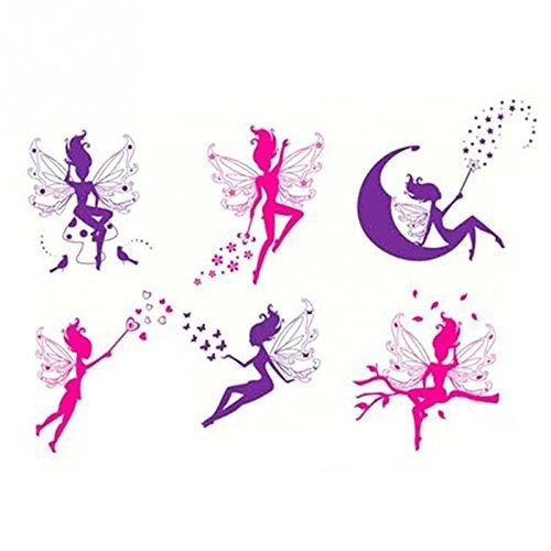 wandsticker4u-6-piezas-set-la-fabelhaften-magica-de-hadas-en-morado-rosa-efecto-de-100-x-70-cm-magia