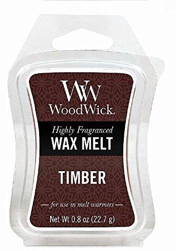 Woodwick 57087EU Mini Hourglass Wax Melt Timber Marrone 5.8x9x2 6 unità