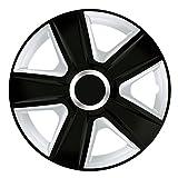 16 Zoll Bicolor Radzierblenden ESPRIT DC RC (Schwarz/Silber mit Chromring). Radkappen passend für fast alle OPEL wie z.B. Astra H